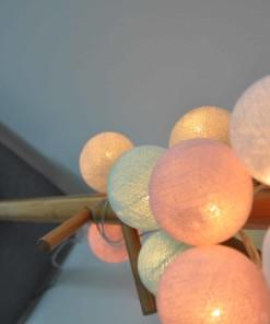 luci di cotone dolce pastello
