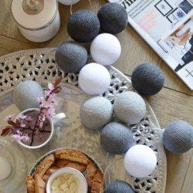 luci di cotone grigio clasico