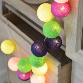 luci di cotone arcobaleno