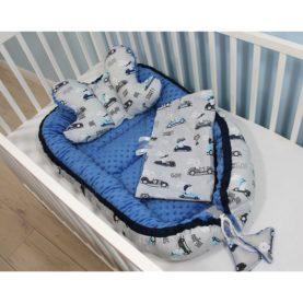 Nido, cuscino e copertina per neonato MACCHININE