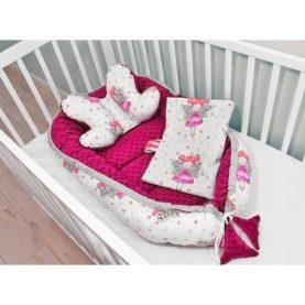 Nido, cuscino e copertina per neonato FATAMADRINA ROSA