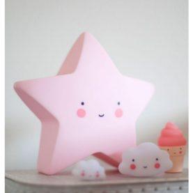 luce notturna pink star a little lovely company