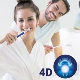 Spazzolino da denti 4D (pacco da 2)